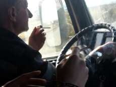 "Quote:""Smoking a cigarrette with my old friend the truckdriver."""