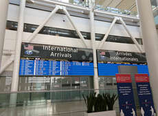 Internationale Ankommende in Toronto Pearson Airport