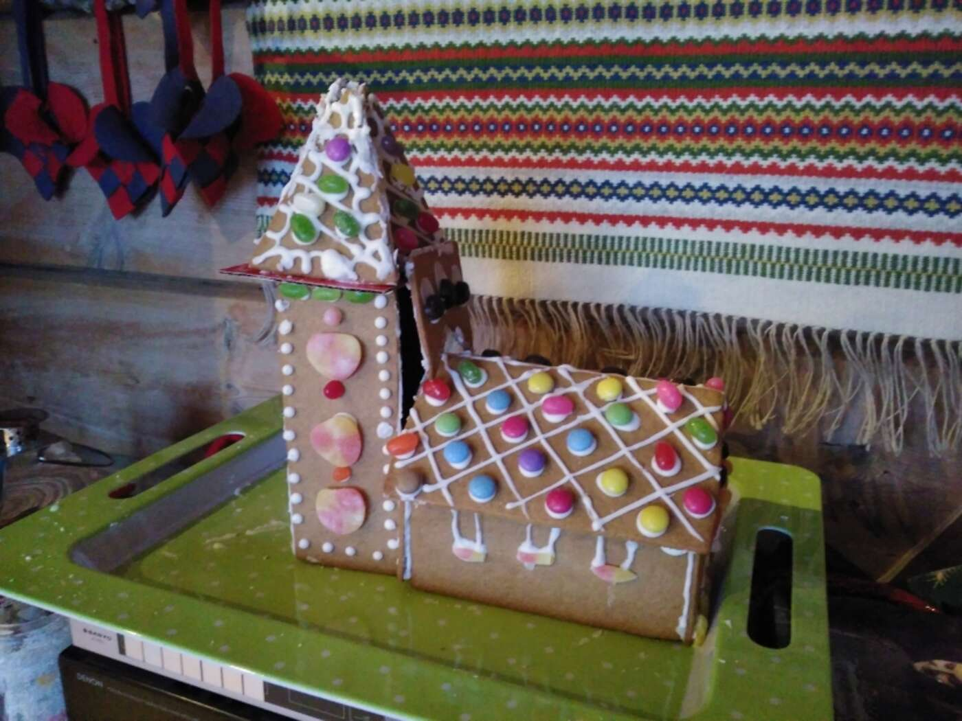 Our interesting gingerbread house