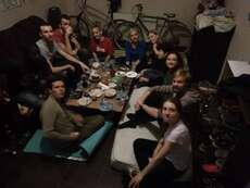 Dinner with other EVS Volunteers from Tbilisi