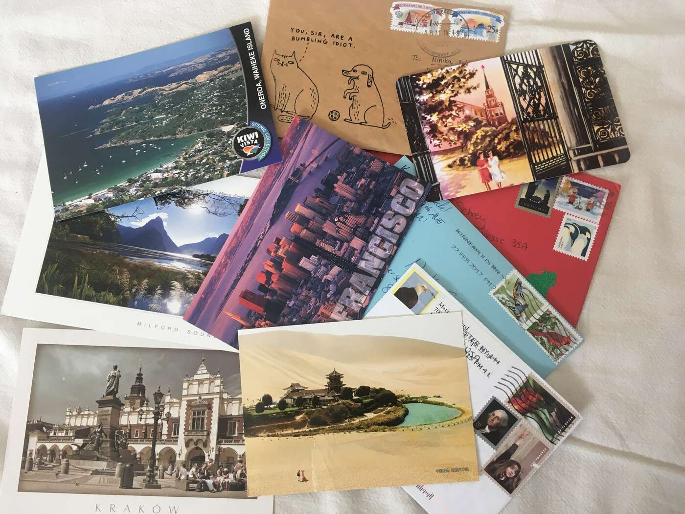 some of my received letters and postcards