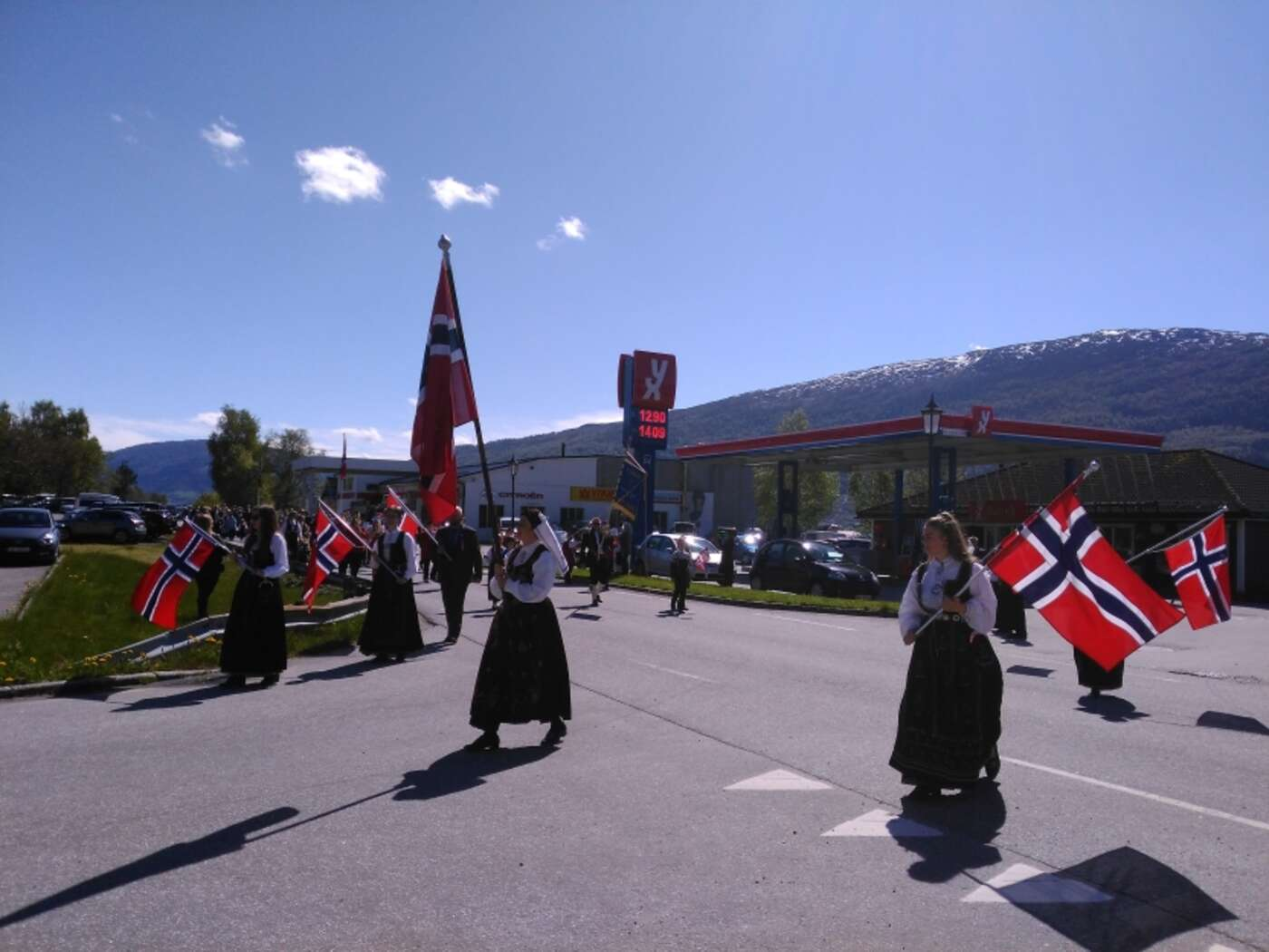 Opening of the parade in Stårheim