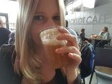Me drinking Butterbeer