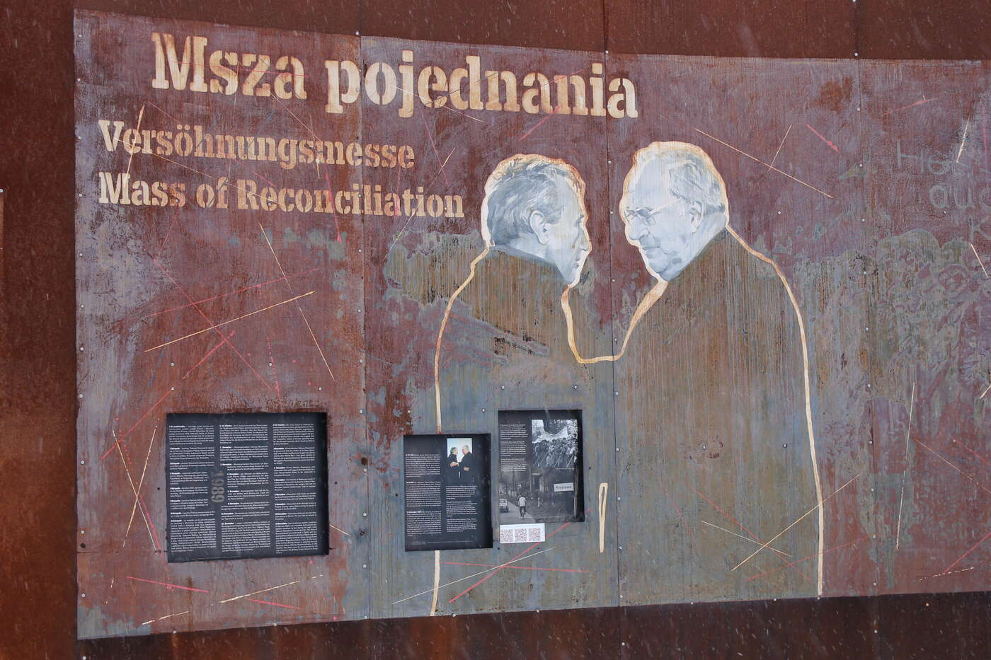 Memorial desk in Krzyzowa